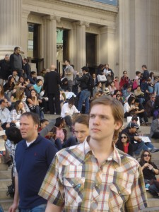 ian outside the met